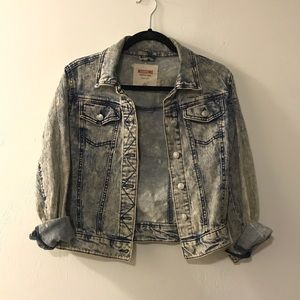 Acid washed jean jacket